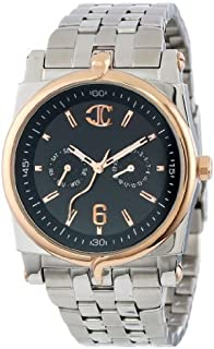 ジャスト カヴァリ Men's R7253916125 Ular Quartz Black Dial Watch [並行輸入品]
