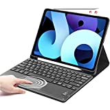 Keyboard Case for iPad Air 4, SENGBIRCH Touchpad Detachable Keyboard with Pencil Holder Cover [Support Apple Pencil Charging] - for iPad Pro 11 Inches 2021/2020/2018,Black