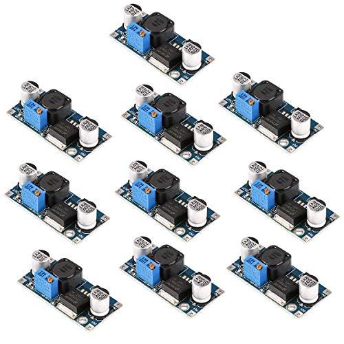 10個 LM2596 DC-DC降圧コンバータ高効率電圧レギュレータ3.0-40V〜1.5-35V可変電源降圧モジュール (DC-DC降圧コンバータ)