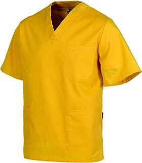 Casacas sanitarias. Pijama sanitario con tres bolsillos. Casaca pijama sanitario en color amarillo.