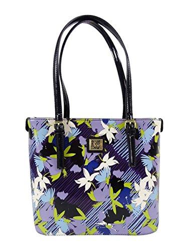 Anne Klein Perfect Tote Small Shopper (Purple Multi/Black)