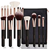 Eono by Amazon - Set Pennelli Make up Professionali 15 Spazzole con Custodia Pennelli Trucco,Oro...