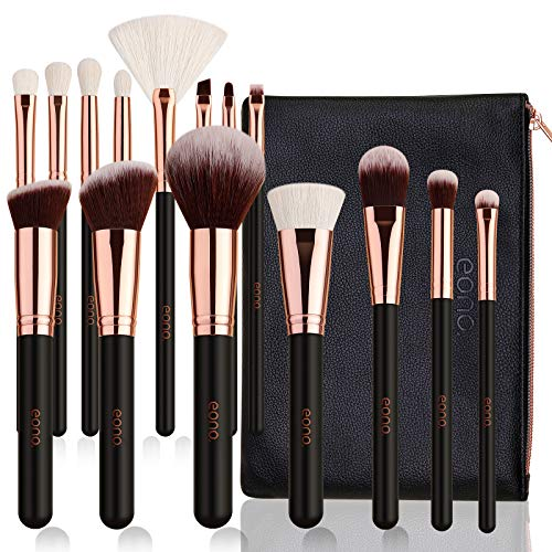 Eono by Amazon - Set de Brochas de Maquillaje Profesional 15