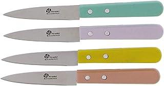 Couteaux PRADEL X 4 Couteaux d Office Manche Bois Couleur Lame en Acier Inoxydable