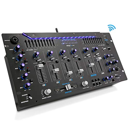 Cheapest Price! Pyle 6 Channel Mixer, Bluetooth DJ Controller, Stereo Mixer, Professional Sound Syst...