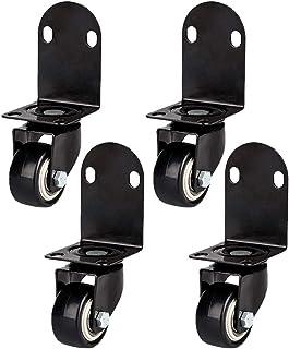 Roulettes Pivotantes sans Freins Meuble Rotation à 360 ° Roulettes pour Meubles avec Vis Roulette Meuble 40mm/50mm Roulett...