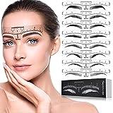 Skymore Eyebrow Ruler, 100Pcs Eyebrow Stencil Microblading Ruler,...