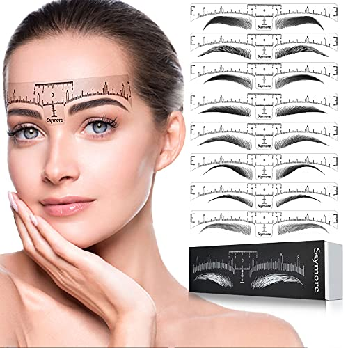 Skymore Eyebrow Ruler, 100Pcs Eyebr…