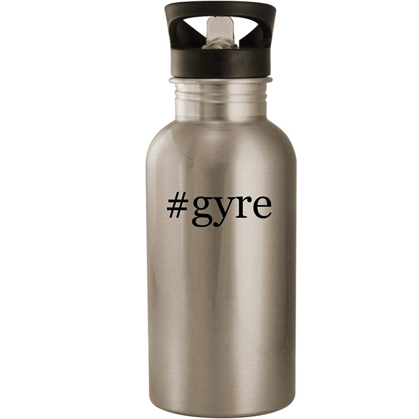 #gyre - Stainless Steel Hashtag 20oz Road Ready Water Bottle, Silver