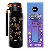 Fringoo - Eco Friendly Childrens Stainless Steel Water Bottle With Straw   BPA