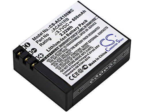 Activeon CS-ACX100MC Akkus 600mAh CX, CX Gold, CX HD, ACTIVEON, ACA01RB