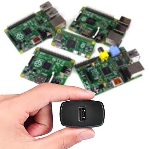 HomeSpot Netzteil 3A/5V EU Ladegerät inkl. 1,5M Micro USB Kabel mit EIN/Aus Schalter USB Ladegerät EU Stecker Micro USB Kabel Netzschalter Kompatibel mit Raspberry Pi 3