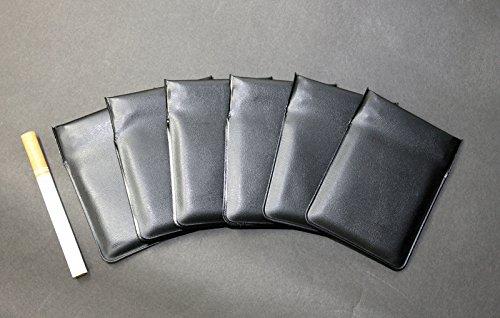 ポケット灰皿 ちっポケmini 黒無地6個(革携帯灰皿インナー 日本製)