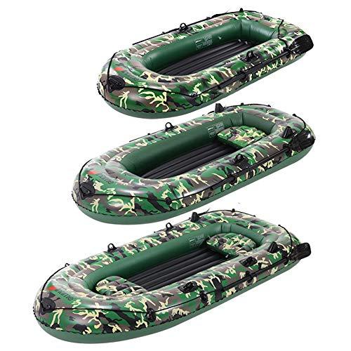 ZCXR Barco inflable, juego de barco inflable de dos personas con paletas, bomba de aire PVC kayak canoa barco, bote de remo para conducir deportes acuáticos