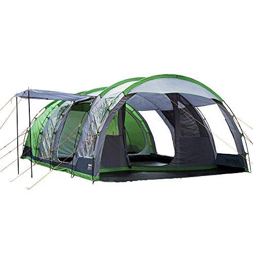 Regatta Great Outdoors - Vanern 6 - Tenda da Campeggio a Tunnel per 6 Persone (Taglia unica) (Verde Estremo)