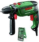 Bosch Home and Garden Trapano Battente PSB 650 RE Compact con Set X-Line 0603128005 da 15 Pezzi, verde