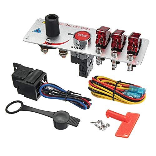JLMOH Interruptor de Encendido, For el Interruptor de alimentación de 12V rapidez y Coches de competición de Coche Universal LED
