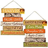 "✻OLD FASHIONED THANKSGIVING WELCOME SIGNS - These signs give your home that ""old fashioned"" feel during the fall holidays. ✻VINTAGE, RUSTIC, COUNTRY LOOK - They take you back to a time when life was simpler and remind you to slow down and to just enj..."