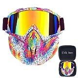 Skibrille Maske Motocross Maske Maske Windsicher Für Sport Anti Skibrille Staubmaske Helm Kompatibel, Schneebrillen Für Männer & Frauen,F