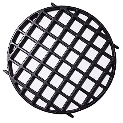 """soldbbq 8834 Enameled Cast Iron 12"""" Gourmet BBQ System Sear Grate for Weber Original Kettle Premium 22-inch Charcoal Grill, 22'' Smokers, Replacement Parts for Weber 22"""" Performer Premium Grill"""