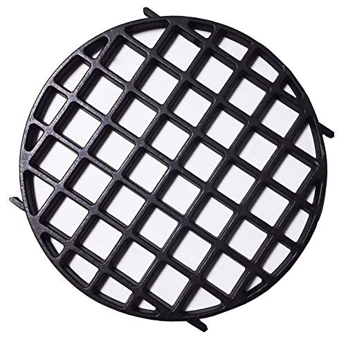 "soldbbq Enameled Cast-Iron Gourmet BBQ System Sear Grate Replacement for 22.5"" Weber Charcoal Grills,Compatible for Weber 8834,12-Inch Diameter"