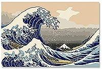 デジタル絵画大人キット絵画日本 DIY デジタルデジタル絵画現代壁アートキャンバスユニークな 40 × 50 センチメートル
