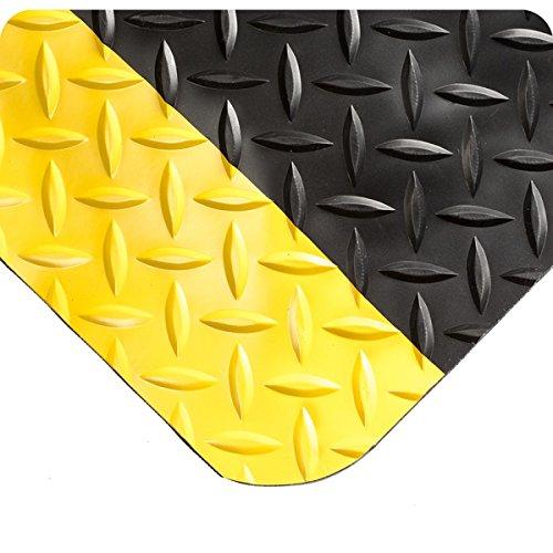 Wearwell 495.916x2x6BYL Diamond-Plate Select Mat, 6' Length x 2' Width x 9/16