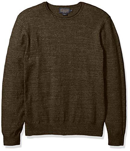 Pendleton Men's Roll Neck Crew Sweater, Olive Green, XL