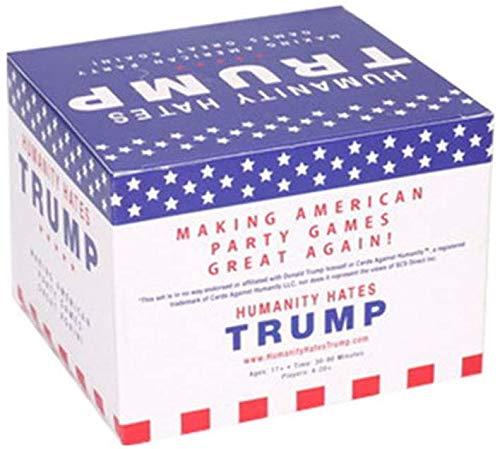 LINANNAN Die Menschheit Hates Trump lustiges Kartenspiel Classmates Reunion Brettspiel Adult Entertainment Perfekt für Freunde, Paket Grund