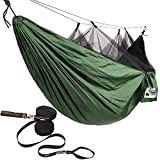 Adventure Gear Outfitter Hammock with Mosquito Net and Free Tree Straps