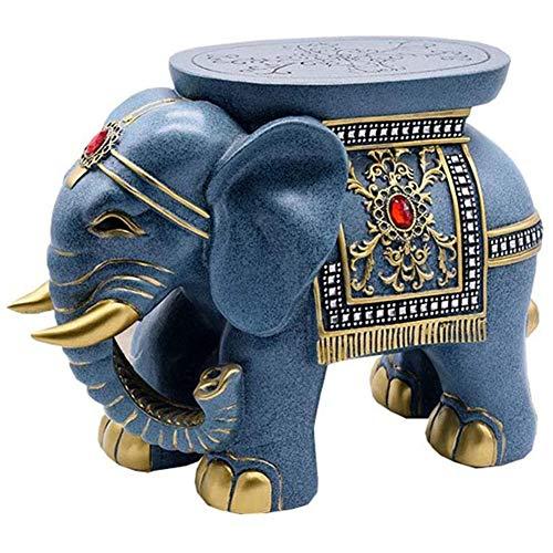 Creativo Elefante Footstool Resinas Ecológicas Cambiar El Taburete del Zapato Animales Mesa De Centro De La Sala De Estar Sofá Taburete Adornos De Artesanía