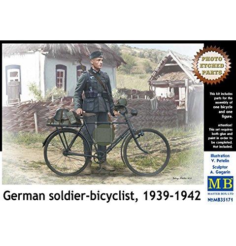 Masterbox Soldat Allemand sur vélo, échelle 1:35, Figurine 1939-1942