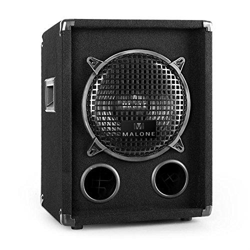 """Malone PW-1010-SUB - passiver PA-Subwoofer, PA Box, 600 Watt max. Leistung, 25 cm (10\"""")-Tieftöner, Frequenzgang: 65 Hz bis 5 kHz, Bassreflex-Holzgehäuse, Oben liegender Stativ-Einsatz, schwarz"""