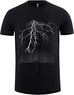 Pioneer Camp Men's Lightning Graphic Cotton T-Shirt