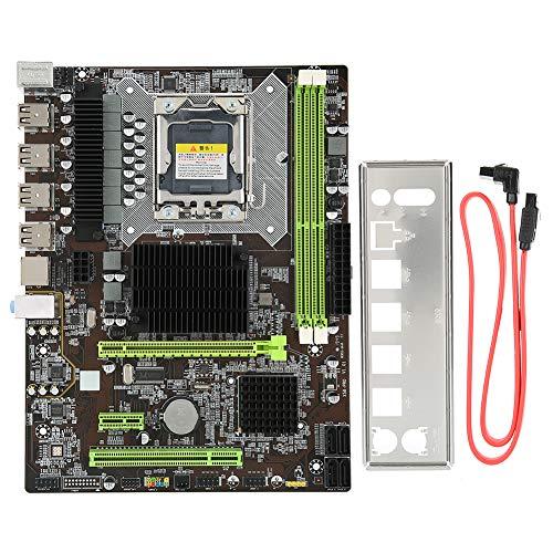ASHATA-Computer-Motherboard, X58-Motherboard 1366-polige GB-Netzwerkkarte DDR3-Desktop-Mainboard, Unterstützung für Hochleistungs-Computer-Mainboards RECC Memory PRO