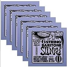 Ernie Ball 2839 6 String Baritone 13-72 (6 Pack)