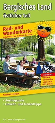 Bergisches Land, Östlicher Teil: Rad- und Wanderkarte mit Ausflugszielen, Einkehr- & Freizeittipps, wetterfest, reissfest, abwischbar, GPS-genau. 1:50000 (Rad- und Wanderkarte / RuWK)