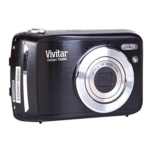 "Vivitar VT324 - Cámara compacta de 12.1 MP (Pantalla de 2.4"", Zoom óptico 3X, estabilizador), Negro (Importado)"