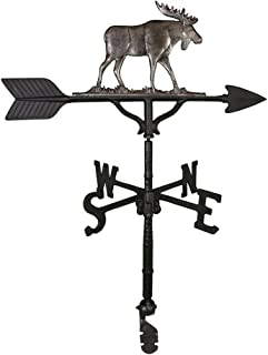 Montague Metal Products 32-Inch Weathervane with Swedish Iron Moose Ornament
