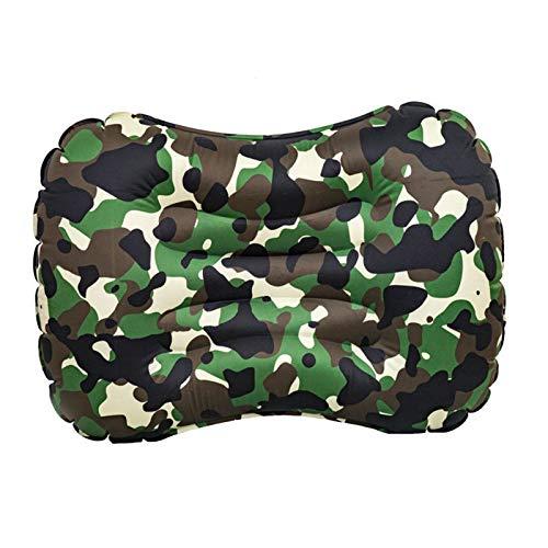 1 almohada de viaje inflable ergonómica, portátil, ligera, compacta, para uso doméstico