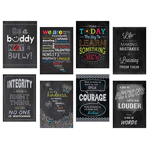 Creative Teaching Press Inspire U 8-Chart Pack (Accent Classrooms, Walls, Hallways, Displays, Learning Spaces and More)