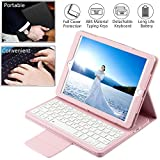 Wineecy Custodia Tastiera iPad PRO 9.7 / iPad Air 1 / iPad Air 2 / New iPad 9.7, Custodia in Pelle con Wireless Staccabile Tastiera(QWERTY) per iPad Air/iPad PRO 9.7/ iPad 9.7' 2017/2018 (Pink)