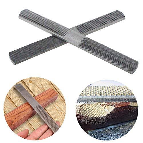 Lima plana de acero 4 en 1 de 200 mm, lima de madera semicircular para carpintería, escofina gruesa de 4 vías