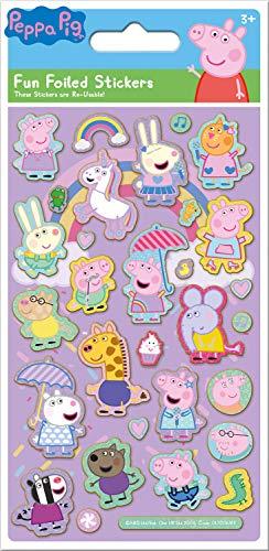 Paper Projects 01.70.06.153 - Pegatinas de Peppa Pig, color rosa