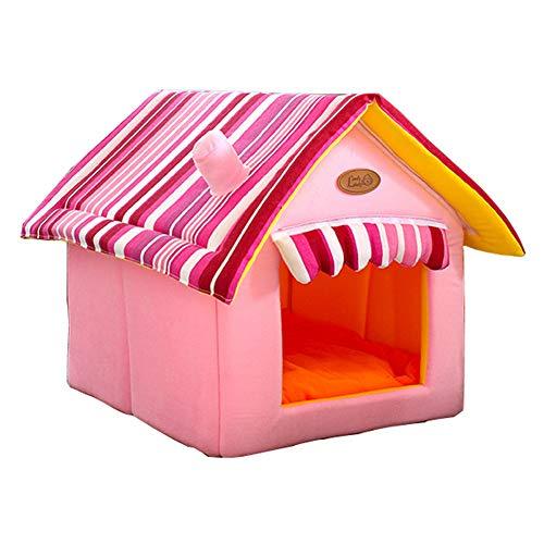 CW- Mascota casa Haustier Haustier Versorgung Hund Katze Sand Abnehmbar Material Waschmittel Rosa Größe/Gewicht S/3.5kg Modern M:40 * 38 * 26 * 40 Rosa