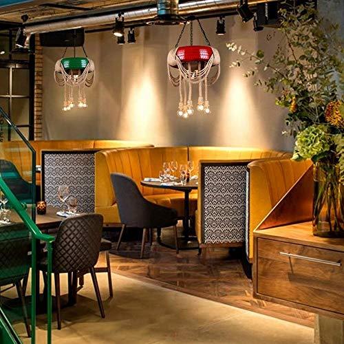 Retro cafe kleding banden hennep lantaarn Hotel Internet Caf eacute; creatieve gepersonaliseerde hennep lichtslang, rood, 60cm