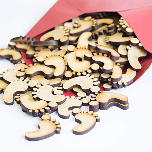 Mini Wooden Mixed Christmas Craft 45pc MDF Shape Art 20mm Reindeer Tree Noel New