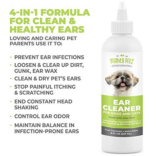 4-in-1 Dog Ear Cleaner Vet Formulated Cleansing Solution