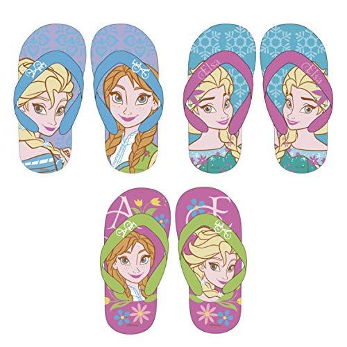 Frozen Flip Flops Schuhe Slipper Badeschuhe Sandalen WD11072 Die Eiskönigin Anna ELSA Olaf (34, Türkis)