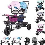 Chipolino, Triciclo Duetto, 2 Bambini, Fino a 40 kg, Sedile Anteriore Girevole, colorazione:Ragazzo Ragazza